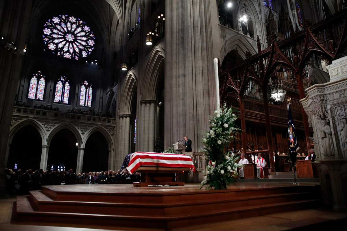 6 memorable moments from George H.W. Bush's state funeral