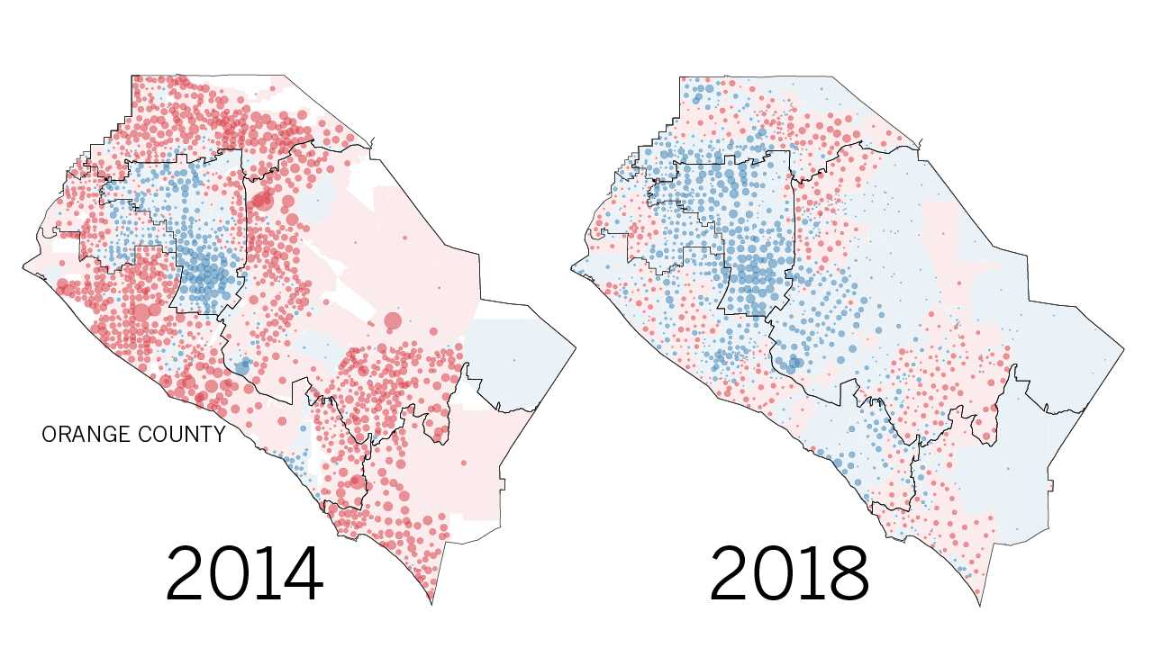 As California's final votes are counted, here's how the midterms helped Democrats sweep Orange County