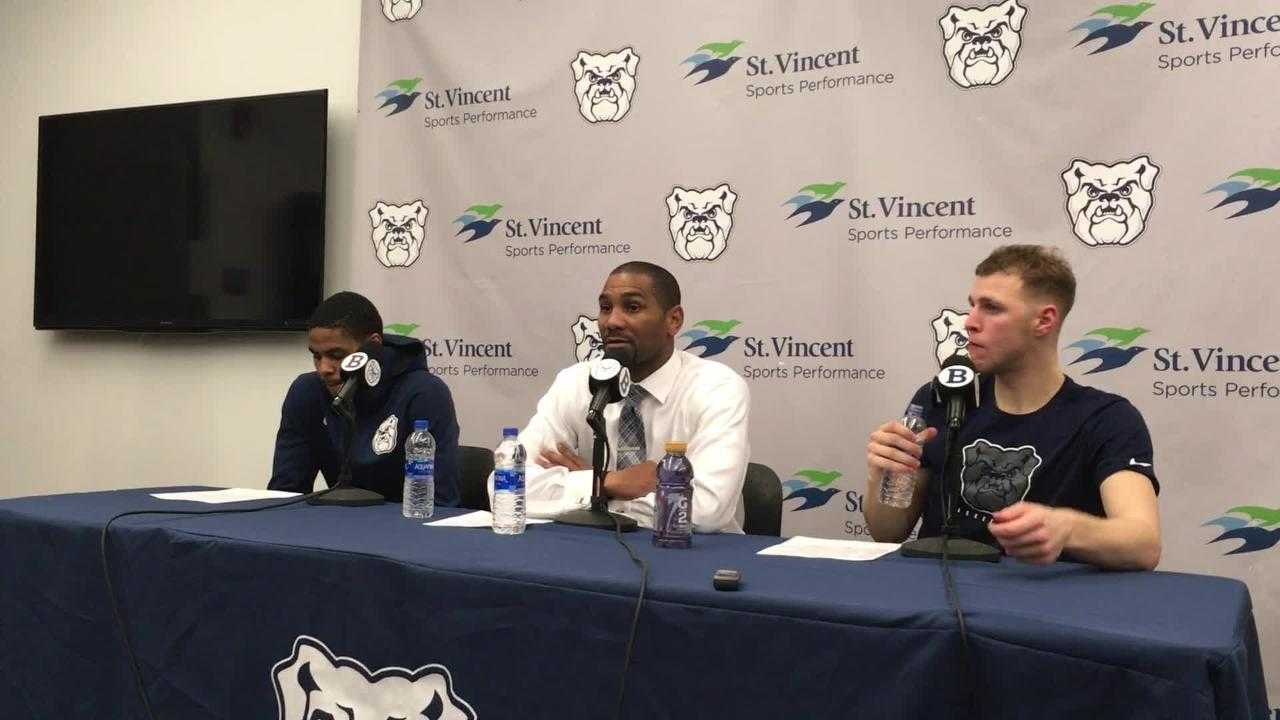 Butler's head coach, players react to win against Brown