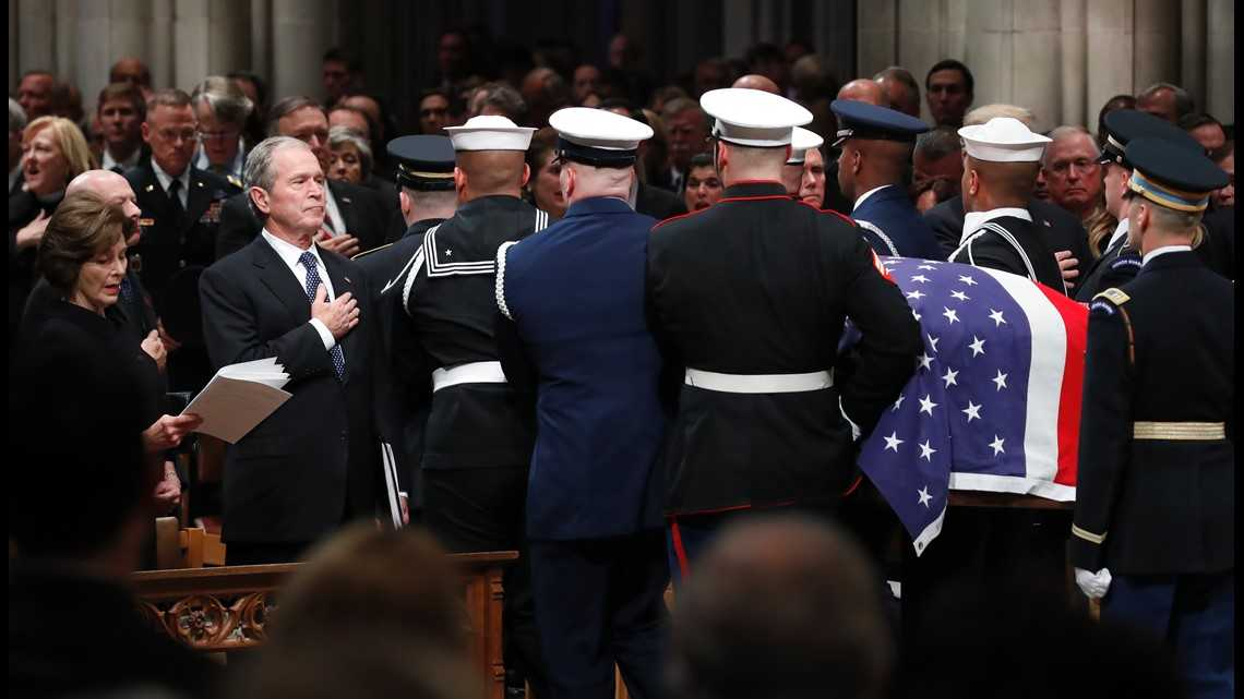 Ceremonies for Bush draw together presidents, world envoys