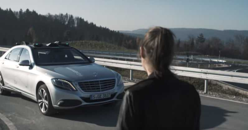 Daimler and Bosch Preview Autonomous Car-to-People Communication