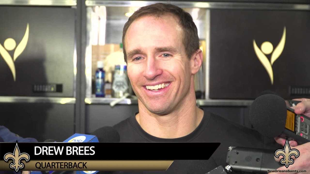 "Drew Brees, ""They're playing really well right now"""