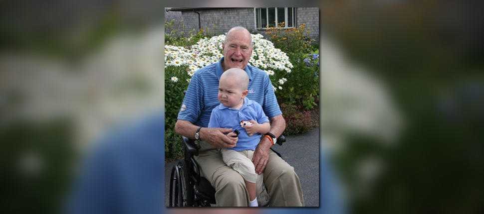 George H.W. Bush shaved his head for Secret Service son diagnosed with leukemia