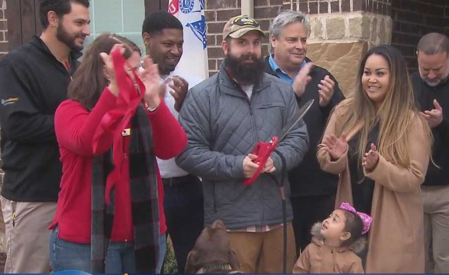 Decorated Army Vet, Family Gets New Mortgage-Free Home