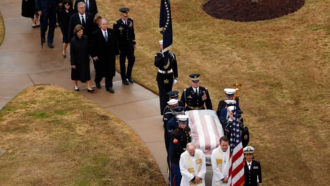 Photos: Bush 41's interment ceremony at presidential library in College Station