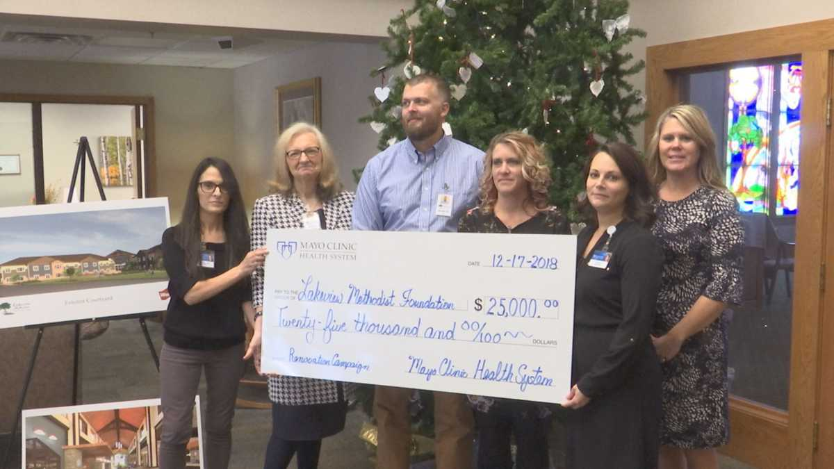 Mayo Clinic Health System Donates $25,000 to Lakeview Methodist in Fairmont