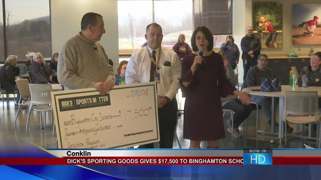Dick's makes a donation to the BCSD complex