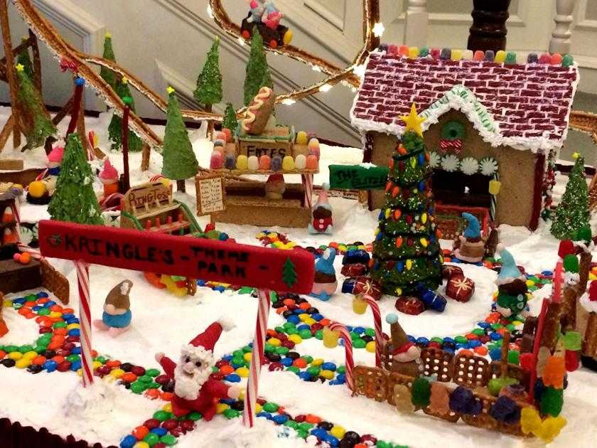Elaborate gingerbread house a sure sign of the holidays