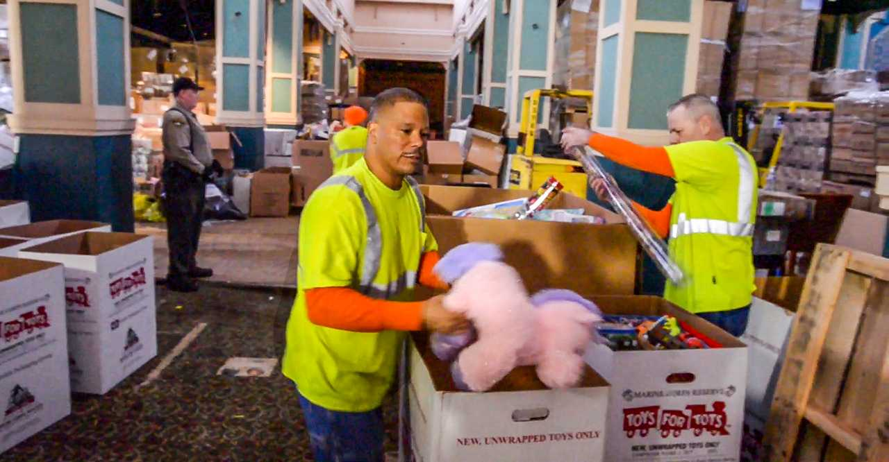 Toys for Tots needed muscle. Dads incarcerated at the Pierce County Jail stepped in