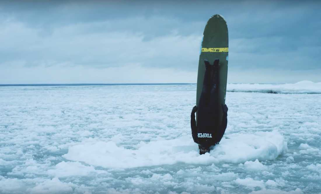 It Takes a Special Kind of Courage to Surf Lake Superior in Winter