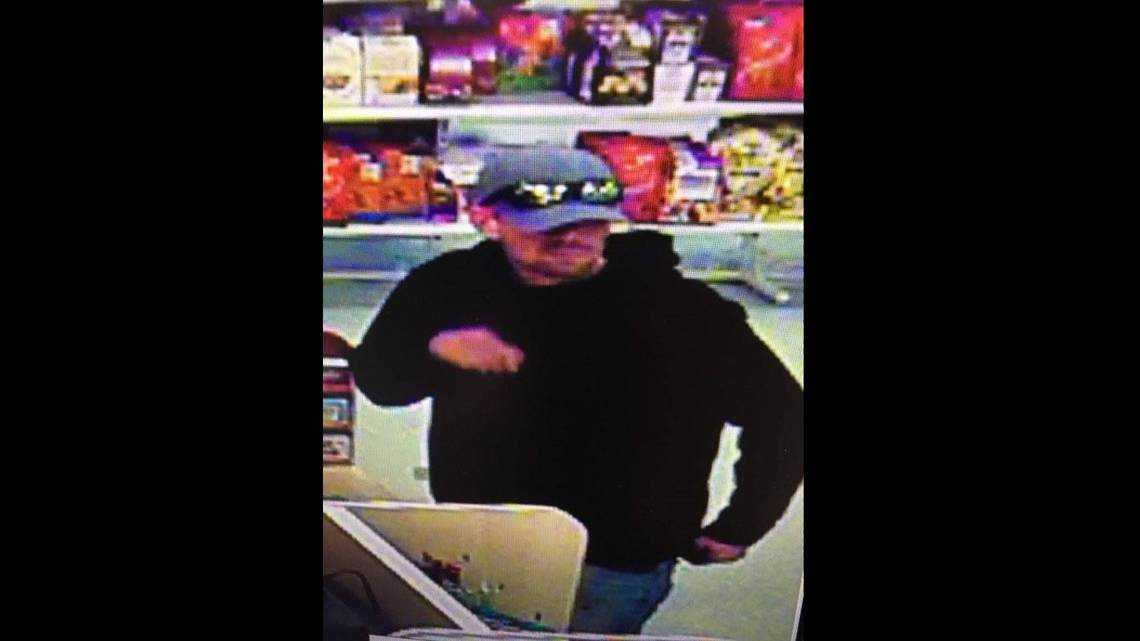 He handed over a note demanding cash at a Bradenton store. Now police are looking for him