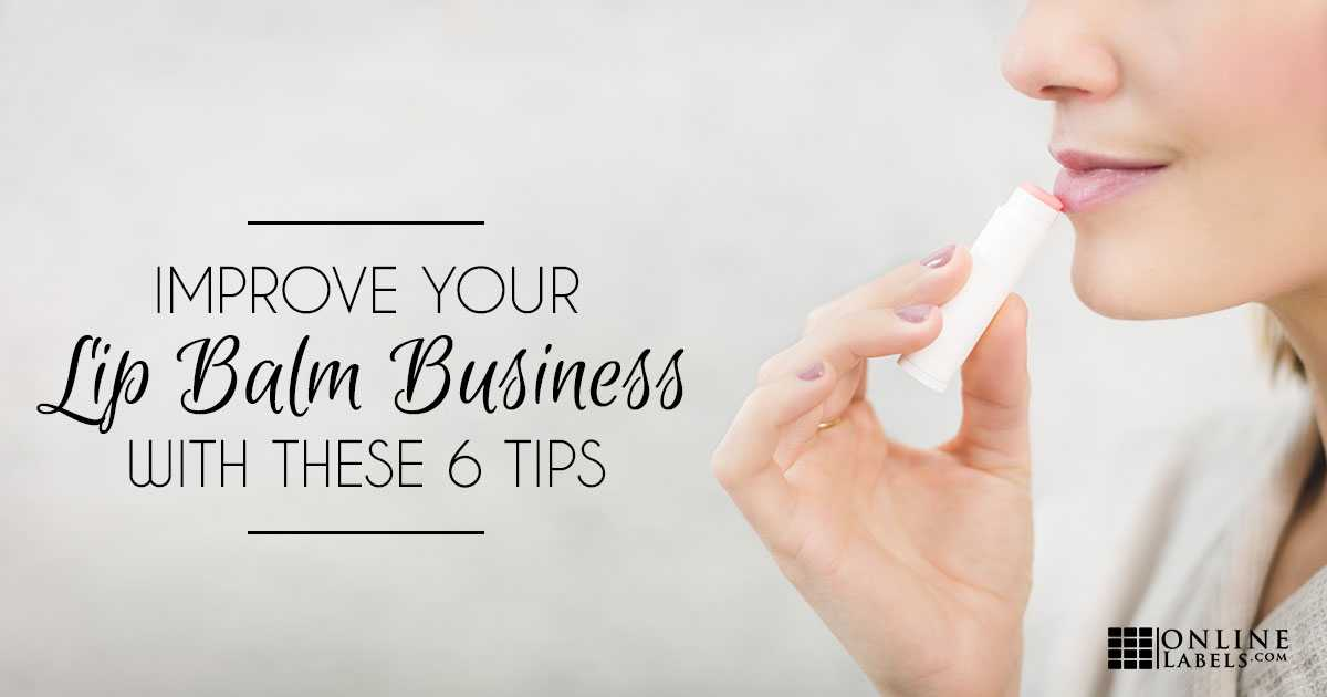 how to start a lip balm business