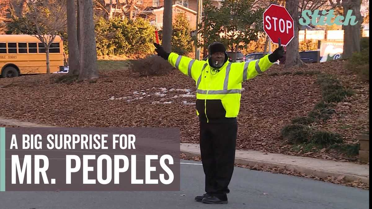 School's crossing guard receives heartfelt surprise from parents, students