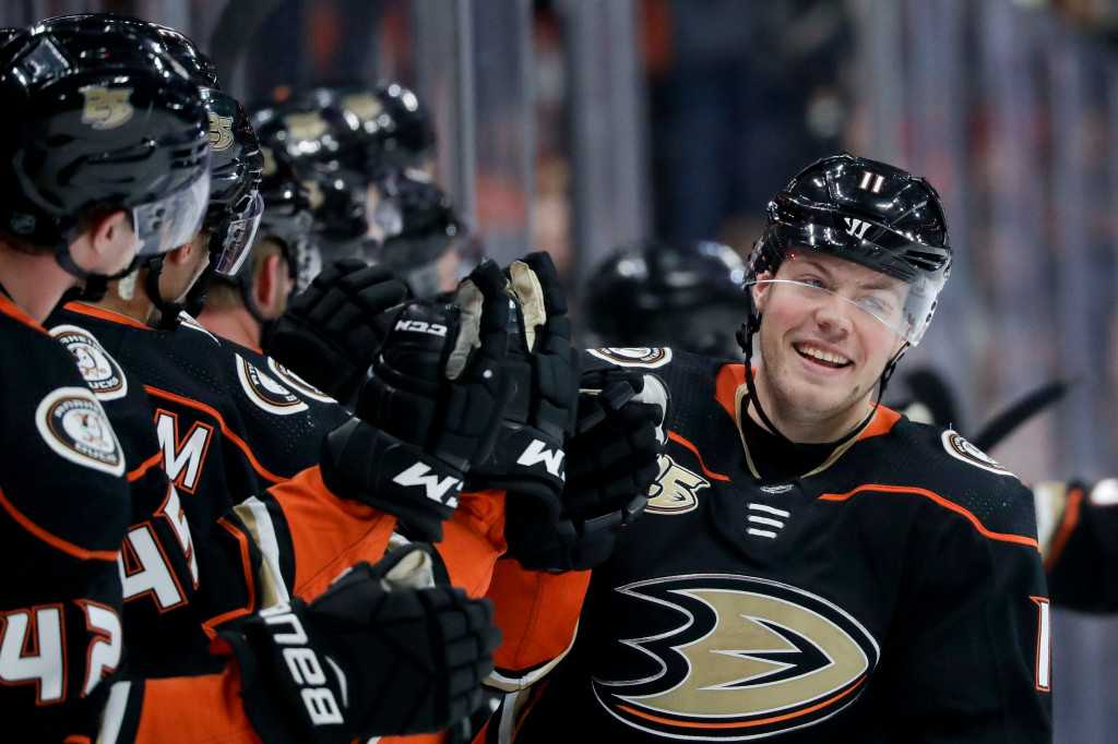 Ducks' Daniel Sprong has come a long way in a short time since trade