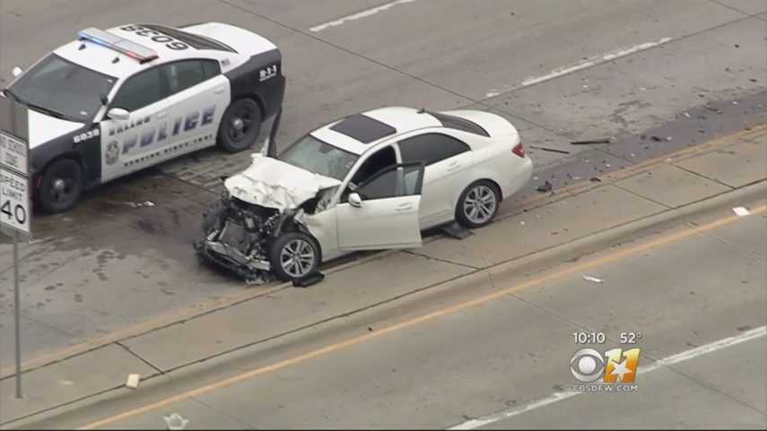 Surveillance Video Captures Wreck; Shooting At Dallas Intersection