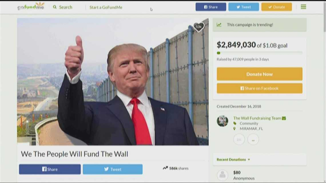 Vet who organized GoFundMe for Trump border wall vows to build it himself