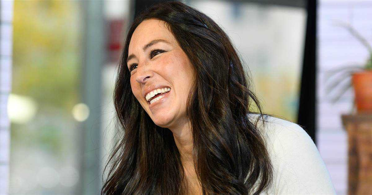 Baby Crew sprawls out for a nap on mom Joanna Gaines' lap in funny, new pic