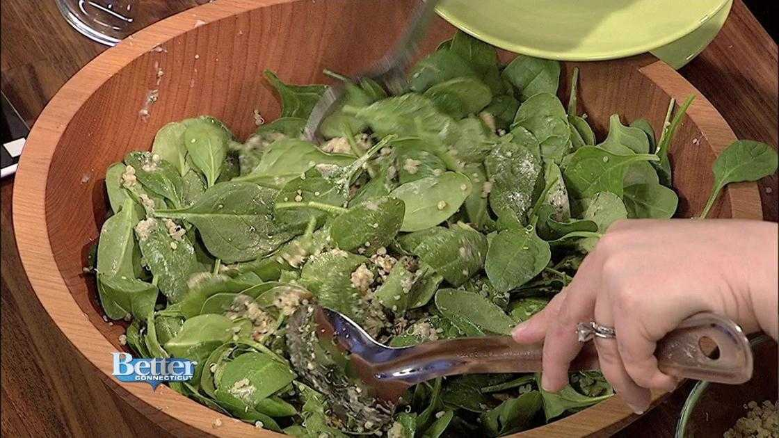 Learn How to Make Nutty Lime Cilantro Spinach Salad!