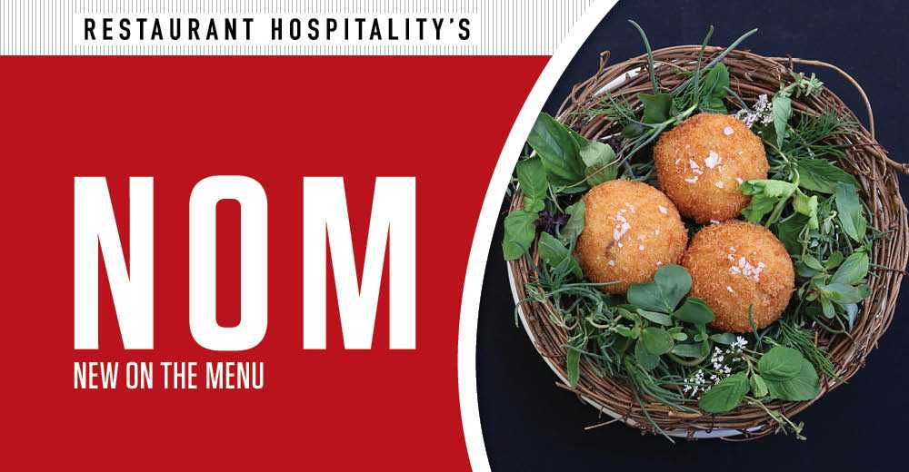 New on the Menu: Japanese arancini, diet-friendly fare from Slater's 50/50 and Fresh & Co.