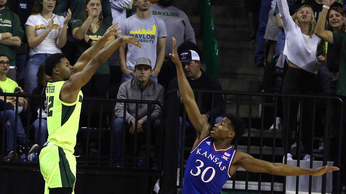 Ochai Agbaji went to the wrong spot on purpose. It helped turn the game for KU