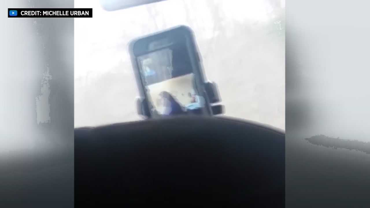 School van driver caught on FaceTime while behind the wheel
