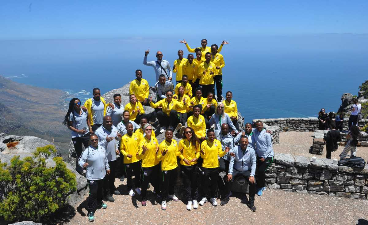 South Africa: Banyana Banyana Visit Table Mountain