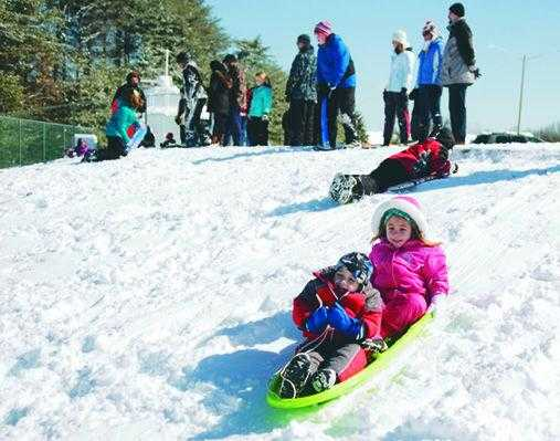 Best sledding hills in Northern Virginia