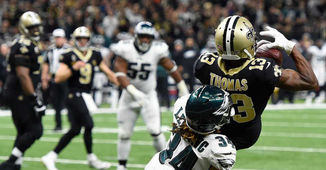 Drew Brees Leads Saints Out of Hole, Past Eagles and to the N.F.C. Championship