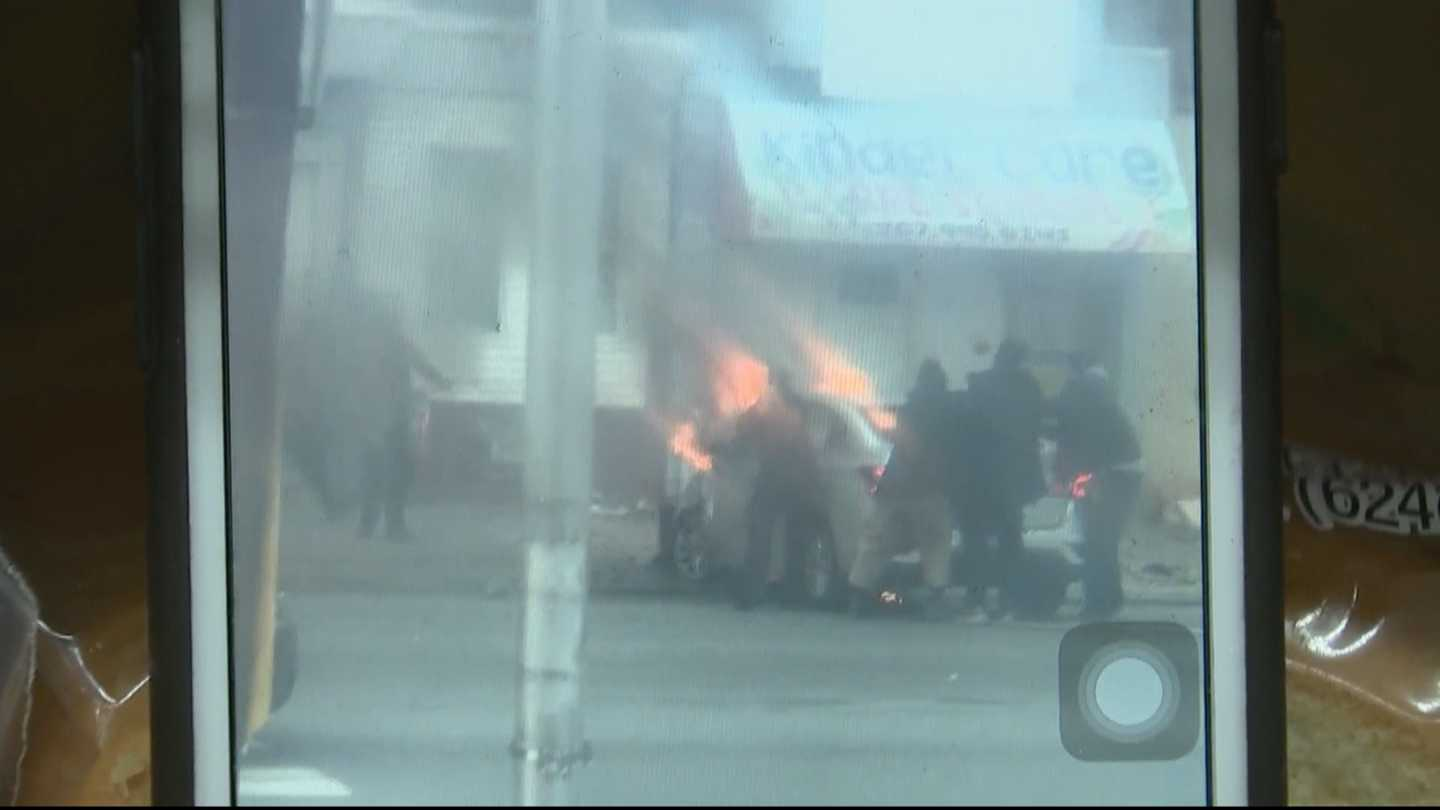 Incredible Video Shows Good Samaritans Rescuing Person From Fiery Car Wreck In Nicetown