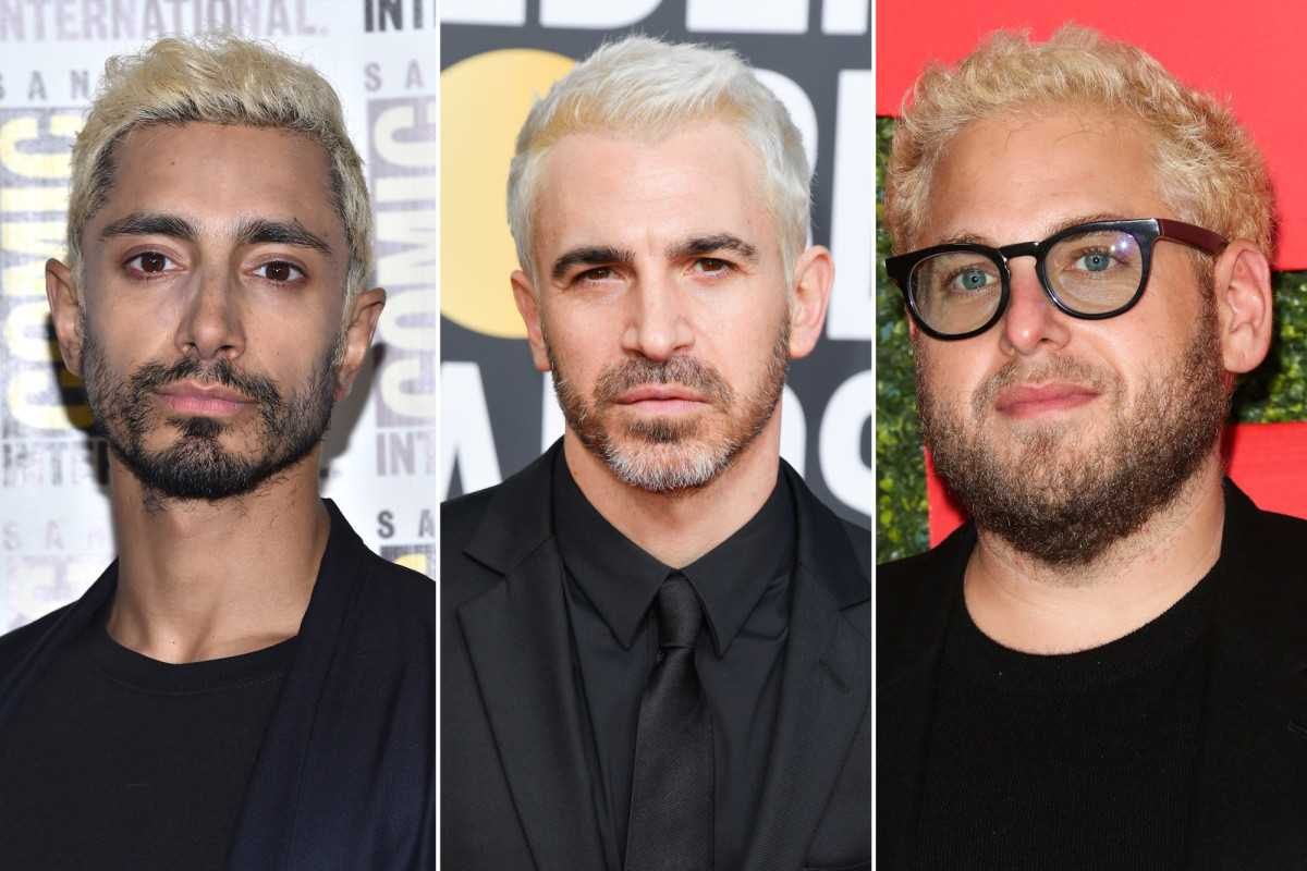 Platinum blond hair is the hot new trend for Hollywood men