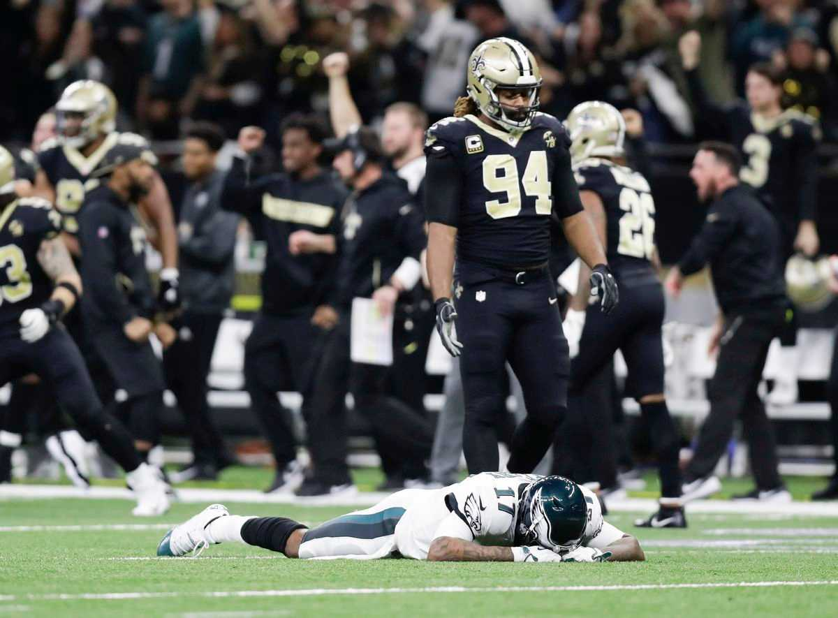 Saints 20, Eagles 14: Alshon Jeffery miss, Nick Foles interception bring Super Bowl defense run to an end