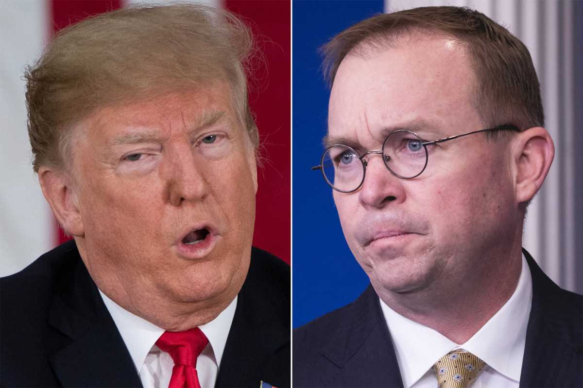 Trump reportedly berated Mick Mulvaney in front of Schumer and Pelosi