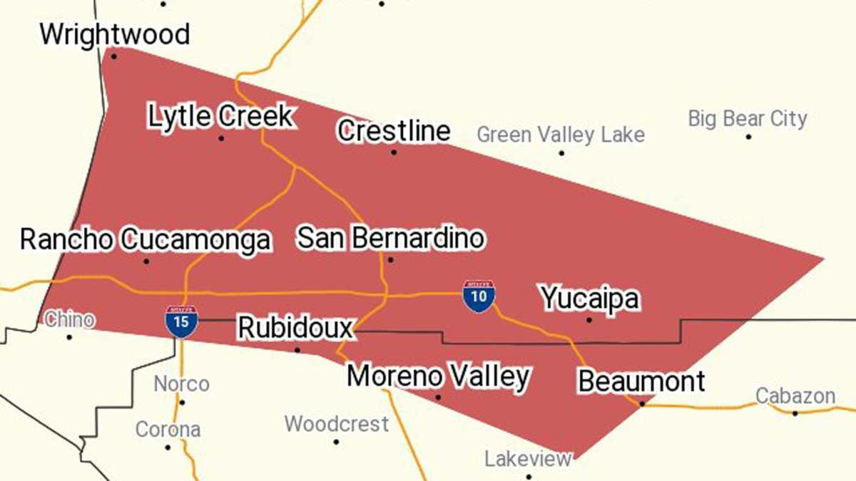 Flash Flood Warnings Issued in San Bernardino, Fontana and Moreno Valley
