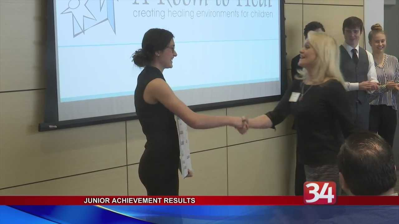 Students at New Visions Business Academy run their own company