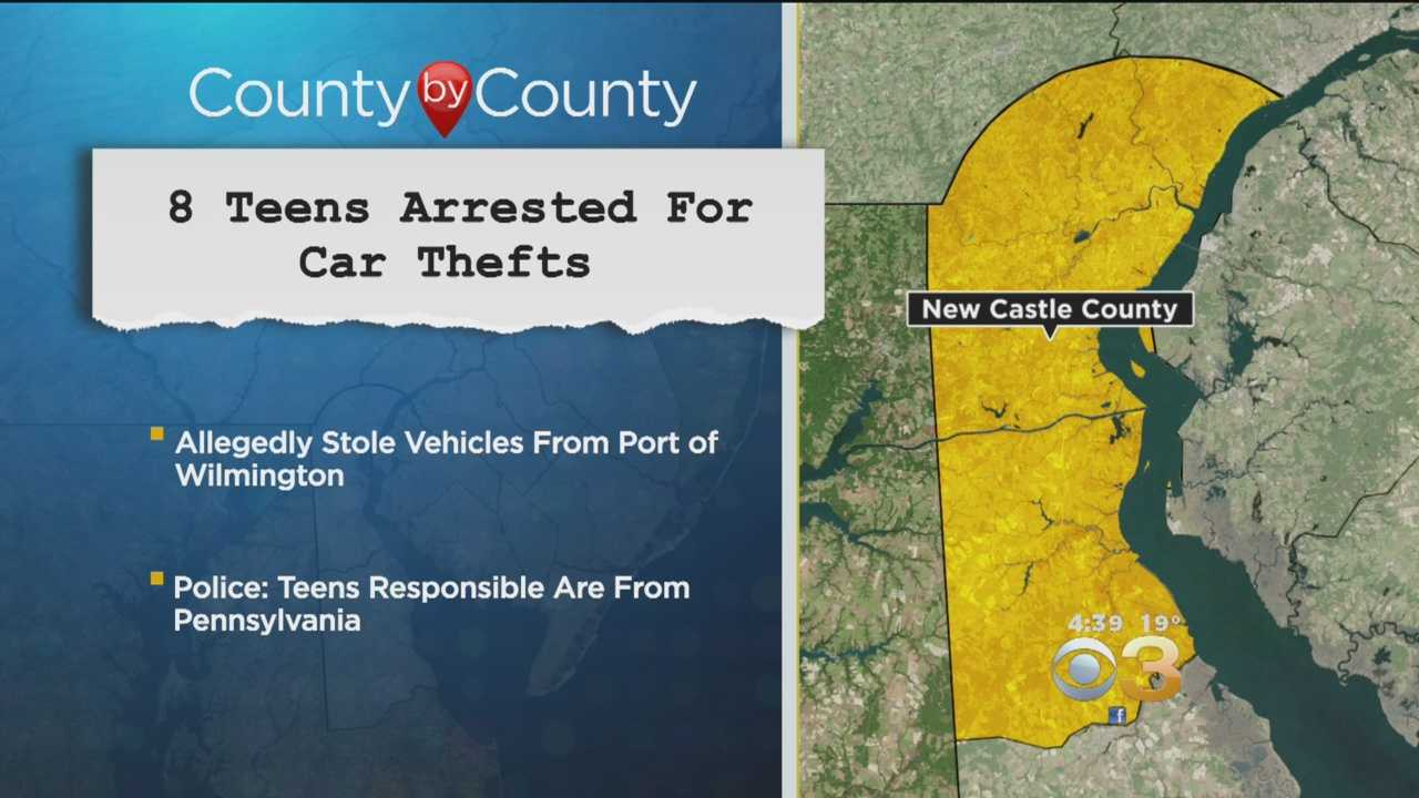 8 Teens Arrested For Car Thefts In Delaware: Police
