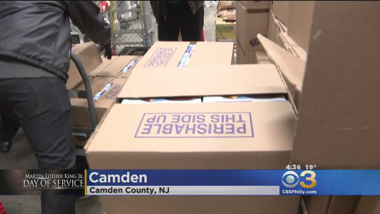 Volunteers Feeding Hungry In Camden For King Day Of Service Project
