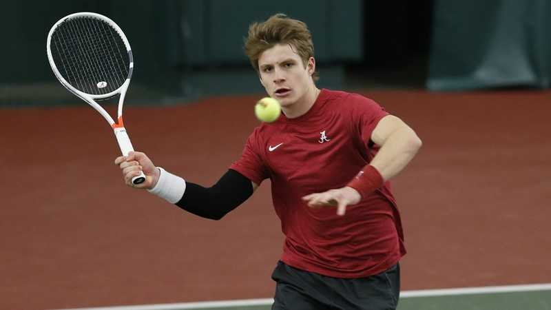 Alabama Men's Tennis Hosts Pair of Weekend Matches Against Northwestern and Harvard