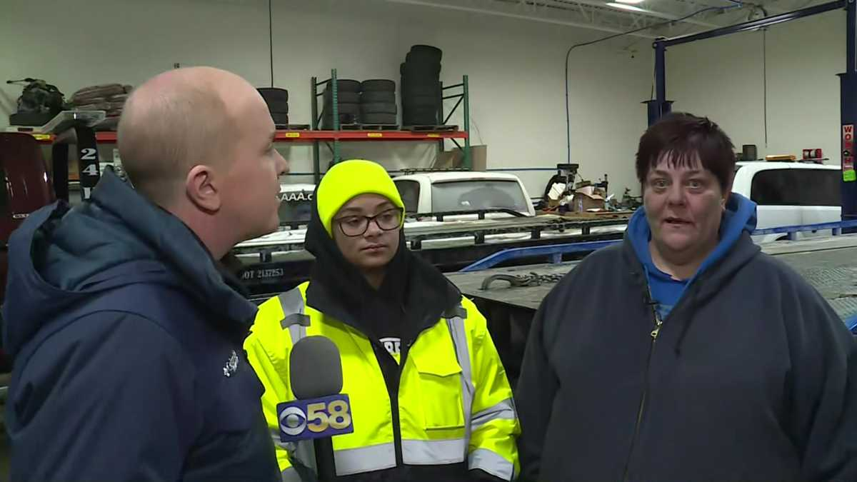 """Cover as much skin as possible:"" Towing companies working despite bitter cold"
