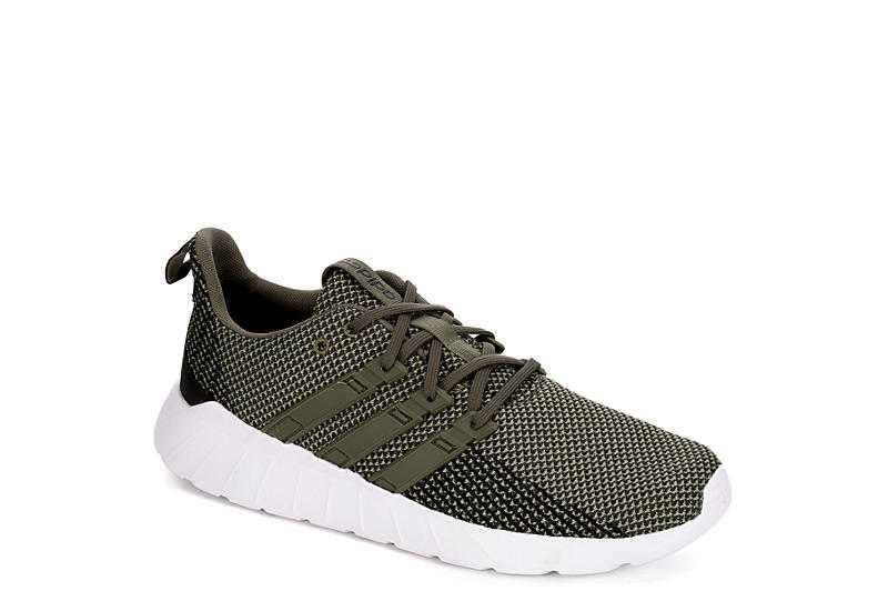 OLIVE ADIDAS Mens Questar Flow Running Shoe