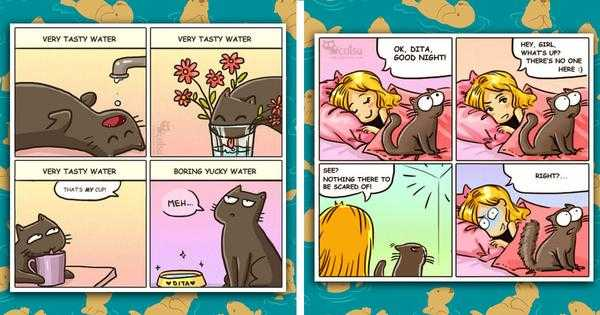 10 Adorable Comics That Are Perfect Examples Of What Makes Cats So Adorably Strange
