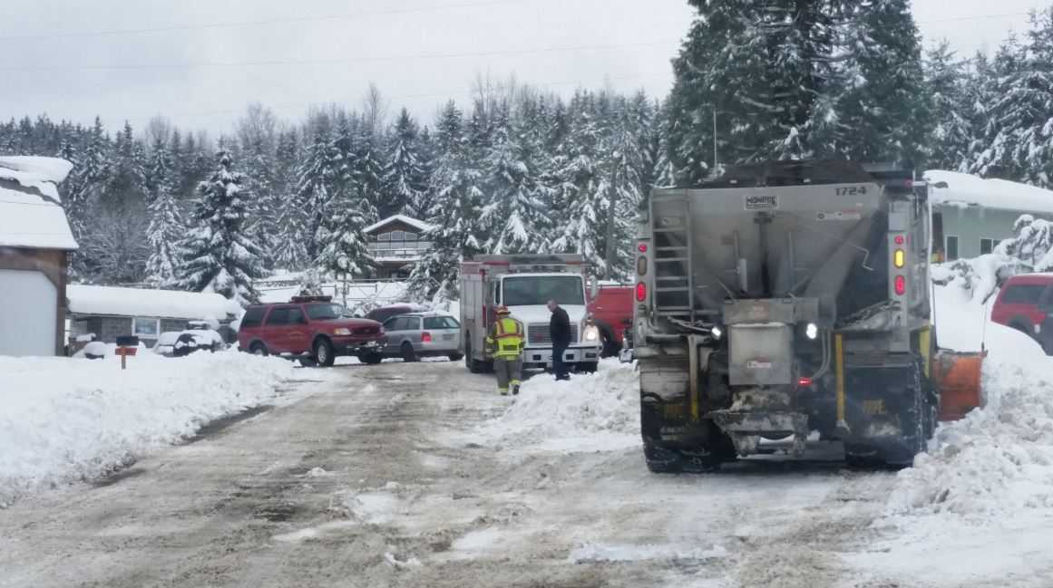 Elderly man injured after snow-covered roof collapses in Sequim