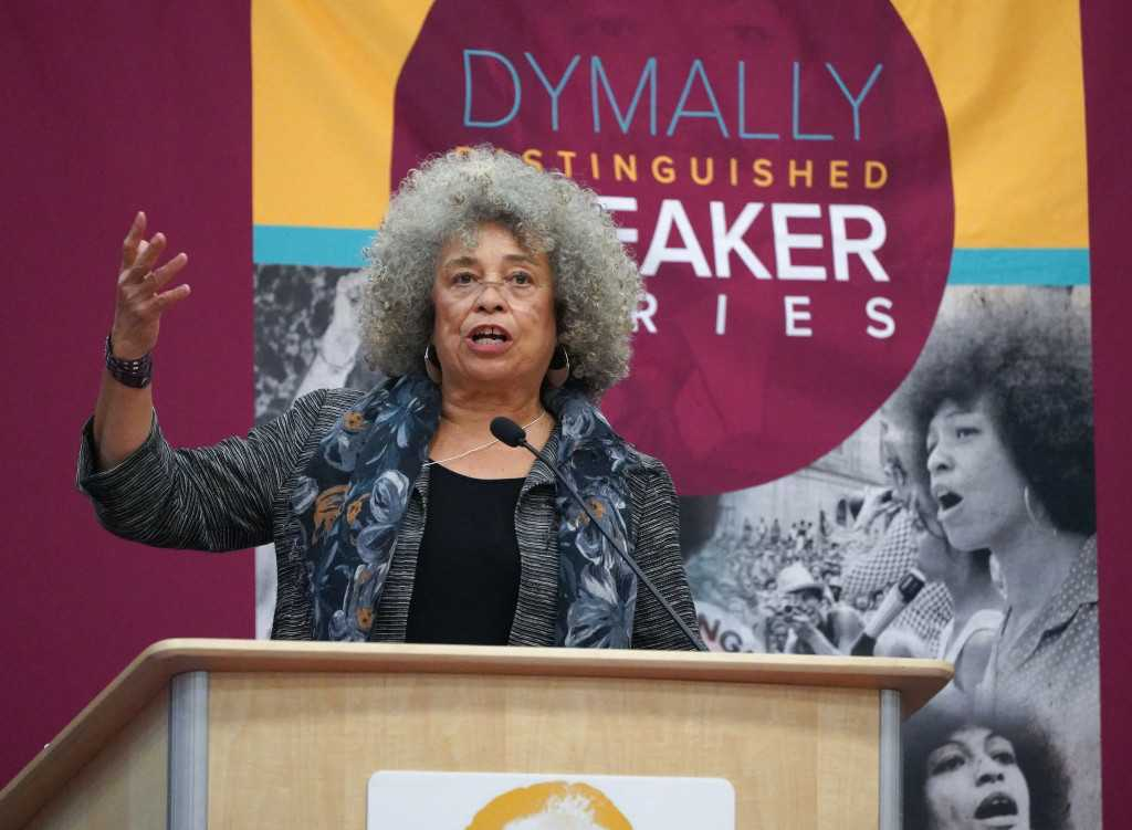 This is what Angela Davis had to say at Cal State Dominguez Hills in Carson
