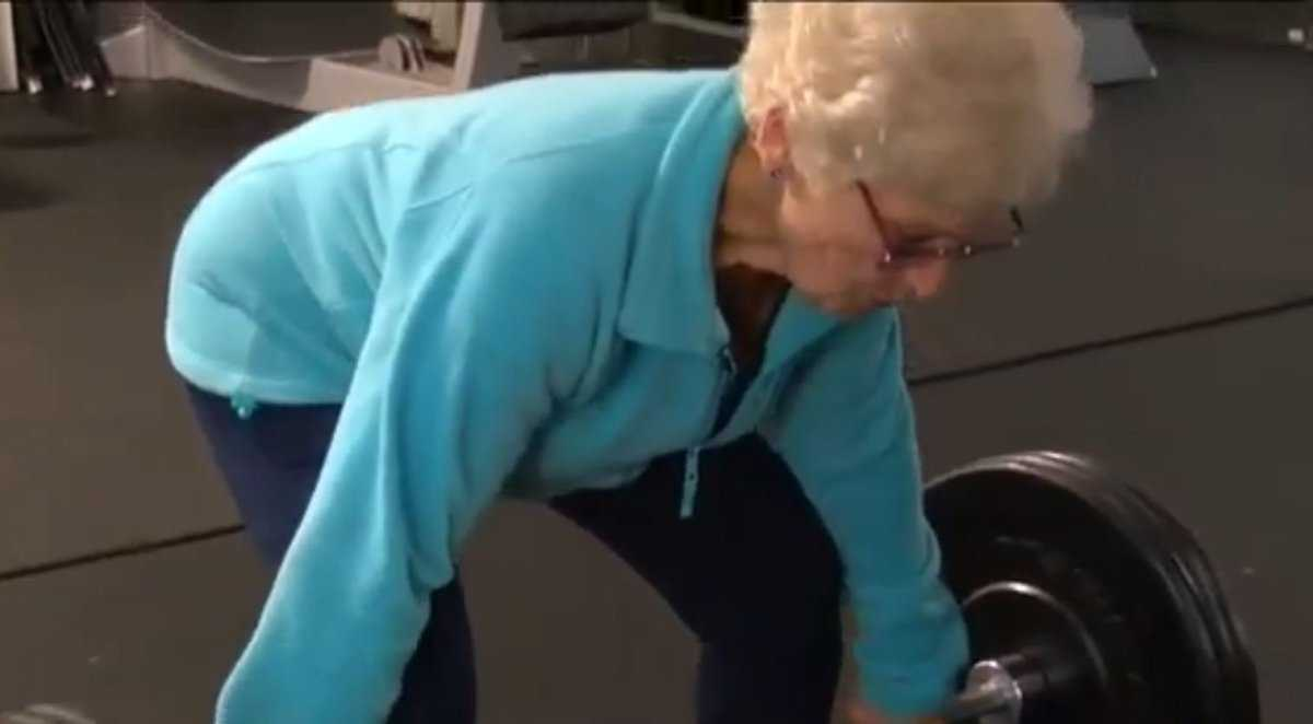75-year-old deadlifts over 100 pounds, 2nd chance at life