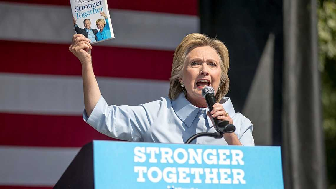 Clinton says Trump copied 2016 campaign slogan 'Stronger Together'
