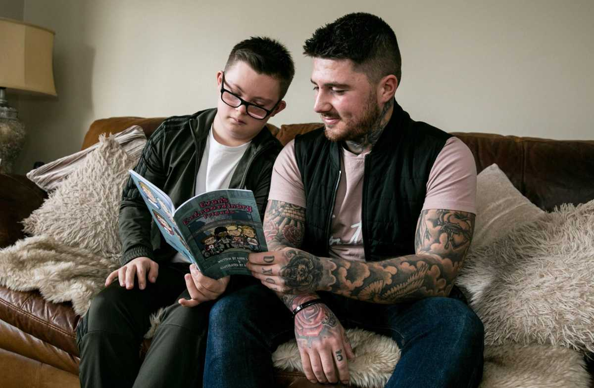 Dad writes first book inspired by little brother's disability