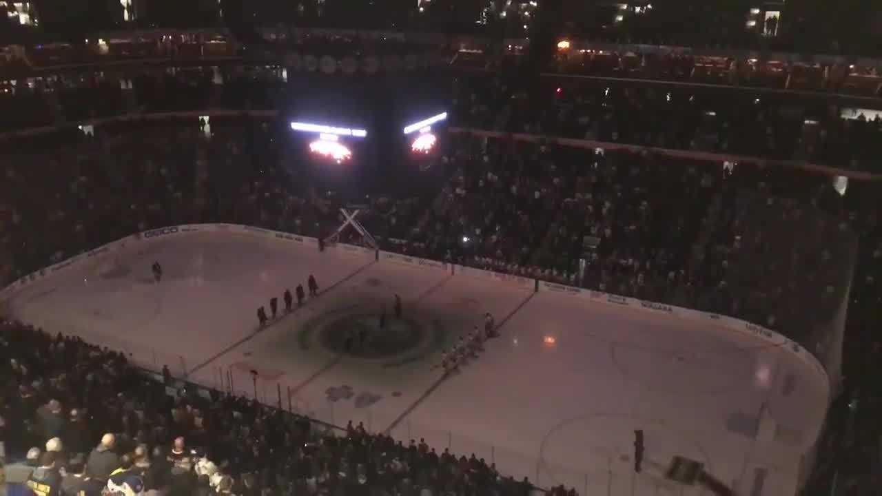 VIDEO: Moment of silence for 3407 victims at KeyBank arena