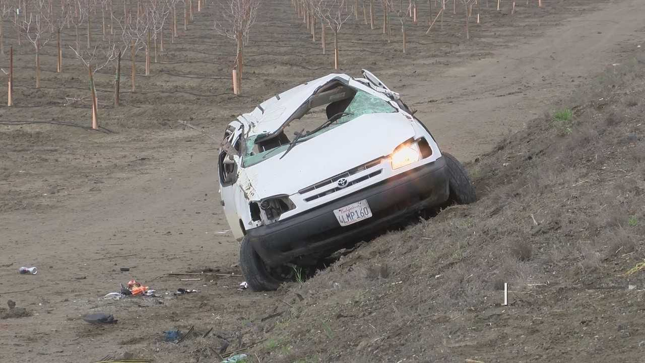 Man and toddler ejected from car in Kings County. Seat belts were not used, CHP says