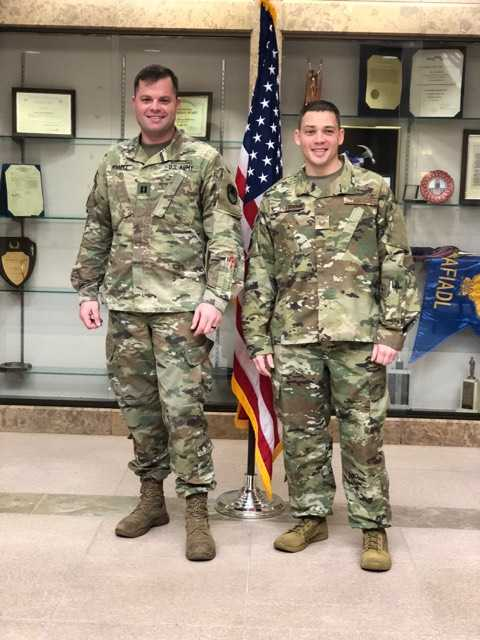 Atmore native helps reenlist friend for 6-year term in Air Force