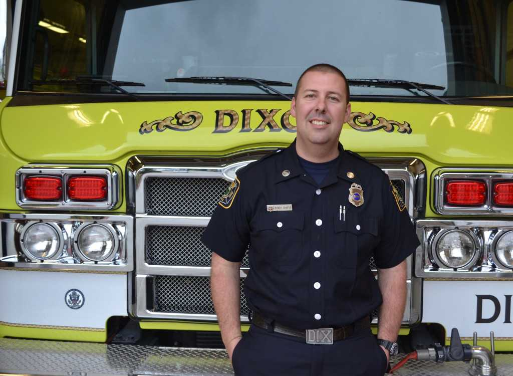 Randy Shafer named Dixon's Firefighter of the Year