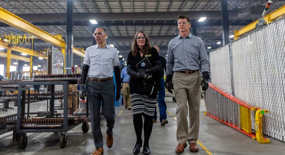 ASHRAE President Sheila Hayter Tours Nortek Factory; Promotes 'Building Our New Energy Future' Campaign
